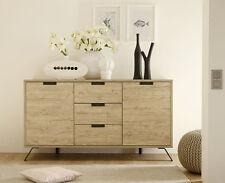 Credenza Moderna, Madia di Design, 2 ante e 3 cassetti, Legno Sherwood Oak