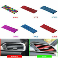 10Pcs Car Auto Accessories Colorful Air Conditioner Air Outlet Decoration Strips