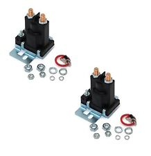 (2) RELAY SOLENOIDS for Western 56131K for Buyers SAM 1306310 4 Post w/ Hardware