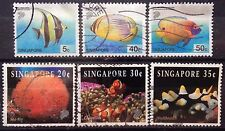 Singapore Used Stamps - 6 pcs Assorted stamps (C)