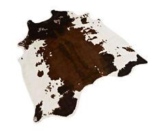 Cowhide Area Rug Feet Tricolor Faux Cowskin Cow Hide Leather Carpet 4.6'X4.4'