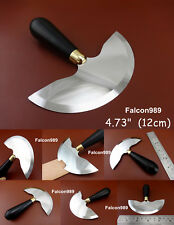 1pc 12cm Leather Craft Hardwood Handle Round Head Cutting Cutter Knife Tool NEW