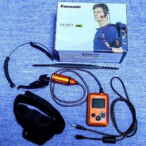 Panasonic Wearable Camera HX-A500 Orange 4K Hands Free Waterproof With Box USED