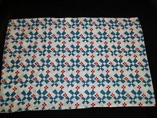 Ikea Fyrklover Standard Pillow Case Blue White Red Geometric Abstract