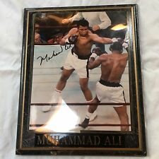 Muhammad Ali Signed 8x10 Photo Autographed over Floyd Patterson  COA, FRAMED