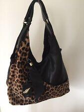Diane Von Furstenberg DVF Handbag Leopard Print Leather Straps Women Bag