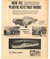 1959 ITC MODEL CRAFT Motorized Plastic Kits Chevy Corvette  VTG PRINT AD