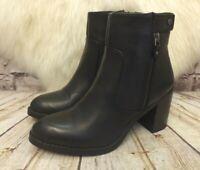 Womens Atmosphere Black Zip Fastening High Heel Ankle Boots UK 5 EUR 38