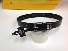 "Harley-Davidson Women's Black Belt & Buckle XS  99529-11Vm 30"" inches 71cm"