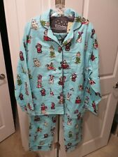 PJ Salvage Christmas Dog Pajama Set - Dachshund French English Bulldog Sz LARGE