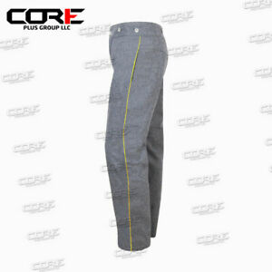 "Civil War Grey CS Officer Trouser 0.80"" Yellow/Red/Sky/Navy/Off White/Black Trim"