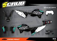 KTM graphics EXC decals kit 125 250 300 450 530 2008-2011 stickers '08-'11 SCRUB