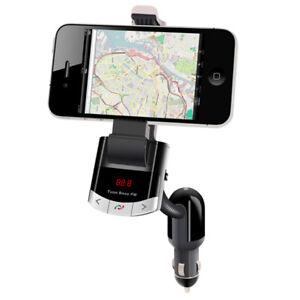 E10D Bluetooth Car Kit FM Transmitter MP3 USB Ladegerät Auto Smartphone Halter