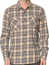 QUIKSILVER Men's TURNER ISLAND L/S Flannel Shirt - KQY0 - Large - NWT