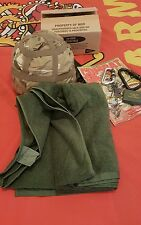 Genuine British Army Issue Green Cotton Towel Unissued By Mod.Large Size.