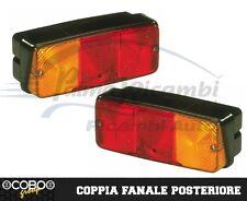 COPPIA FANALE POSTERIORE TRATTORE RIMORCHI COBO 160x70mm IP55 M5 ACCIAIO ZINCATO