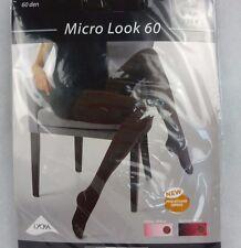 Strumpfhose Move up Microlook 60 Lycra 46-48 Braun 77216 blickdicht opaque