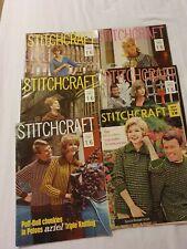 6 X Vintage Stitchcraft Magazine 1960 - 1963