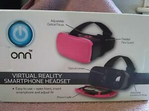 """Onn Virtual Reality Smartphone Headset - pink or white """"Brand New"""""""