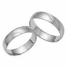 950 PLATINUM MATCHING HIS & HERS WEDDING BAND RINGS MENS WOMENS SET