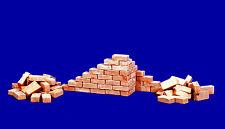 100 Keramik Ziegelsteine ziegelrot 1:16