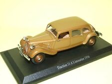 CITROEN TRACTION 11 A LIMOUSINE 1936 Marron  NOREV sur socle