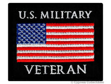 US MILITARY VETERAN PATCH embroidered iron-on AMERICAN ARMED FORCES VET USA FLAG