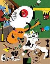 Mirò Miro # 01 cm 70x100 Poster Affiche Plakat Cartel Stampa Grafica papiarte