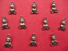 Tibetan silver nounours charmes 10 Par Pack