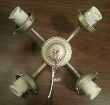 Ceiling Fan 4 arm Light Kit Fitter Brush Nickel w/ Medium E26 Sockets Universal
