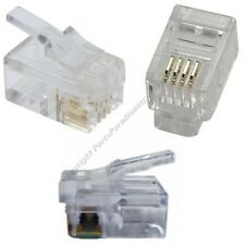 Lot50 Phone/Telephone Rj9 Crimp End/Terminator for Flat cable/cord/wire$Sh Disc