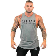 bb3ff78dff78a Mens Bodybuilding Stringer Tank Top Y-Back Gym Workout Sports Vest Shirt  Clothes