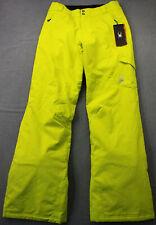 Spyder Excite Womens Acid Yellow Xt.L Waterproof Snow Ski Pants NWT  Sz 8  $199