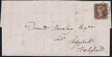 1841 1d Red Black Pl 8 RH 4m STATE TWO Superb Used Lewes to Uckfield