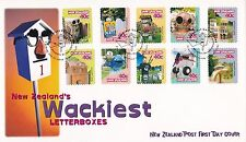 New Zealand 1997 Wackiest Letterboxes FDC