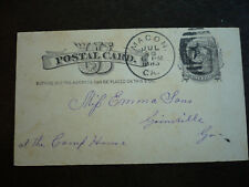 Postal History - USA - Postal Card - UX7 - Macon, GA to Gainsville, GA