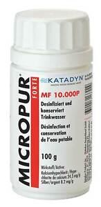 Katadyn Micropur Forte MF10.000 P Pulver Tankreinigung Wohnmobil, Boot etc Chlor