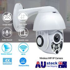 1080P WiFi Outdoor Dome Camera Wireless Security Night Vision 4X Zoom AU Stock