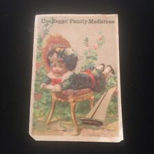 Antique Beggs Family Medicines Victorian Trading Card