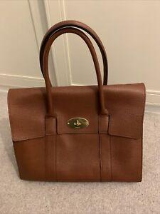 Mulberry Oak Natural Grain Bayswater Handbag