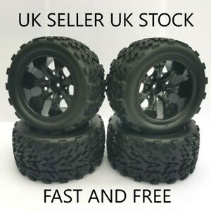 😀2NDS 1/10 WHEELS & TYRES HSP HIMOTO REDCAT RC MONSTER TRUCK LOSI 12MM HEX 4X😀
