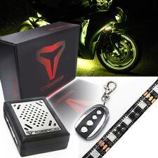 8PC Sound Beat AllColor Motorcycle Under Glow Neon LED Light Strip Kit Spotbike