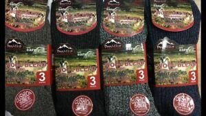 MENS NON ELASTIC / EASY GRIP WOOL BLEND BOOT SOCKS SIZE 6 - 11