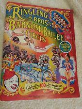 1984 Ringling Brothers Barnum Bailey Circus Program Centennial Edition w poster