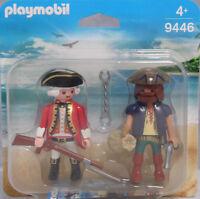 Playmobil Blister Duopack 9446 Duo Pack Pirat Soldat Rotrock Garde Waffen NEU