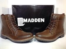 MADDEN Men's Neptun Brown Lace Up Ankle Casual Boots Shoes Size 10  ZK-1490