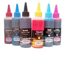 More details for bulk bottled ink dye set 100ml printer cartridge refil bottle kit for ciss