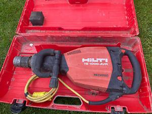 Hilti TE 1000-AVR Hi-Drive Heavy Duty Breaker 110V Demolition Hammer Kango  2086