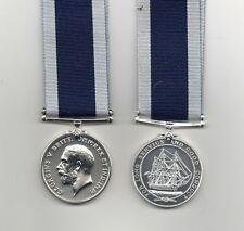 ROYAL NAVY LS&GC GEO.V. COINAGE HEAD - A SUPERB FULL-SIZE DIE-STRUCK REPLICA