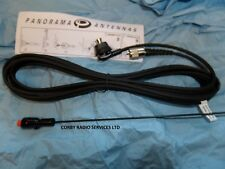 PANORAMA BODY MOUNT PL259 MARINE VHF ANTENNA 144 - 174MHZ COMPLETE CABLE WHIP